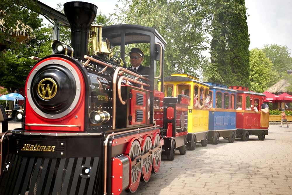 Wattman Mini Express trackless train driving