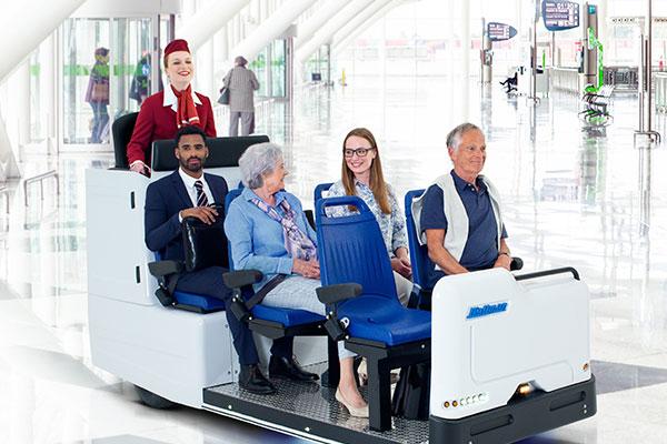 Wattman MiniShuttle in action on airport