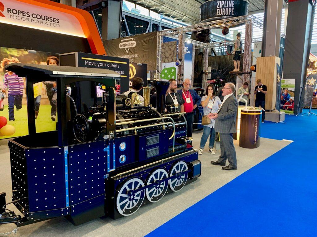Wattman train exhibiting at IAAPA
