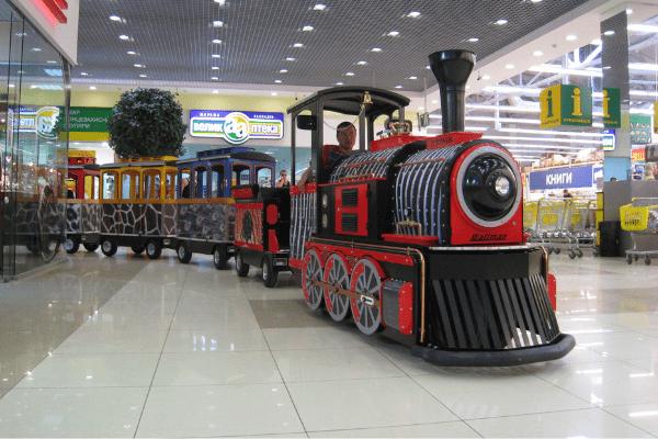 Wattman electric trackless train